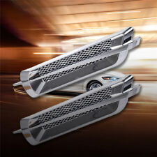 2x Universal Plastic Chrome Car SUV Air Flow Fender Side Vent Decoration New