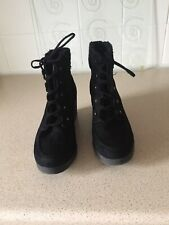 Womens /girls Wedge Ankle Boots Size 3