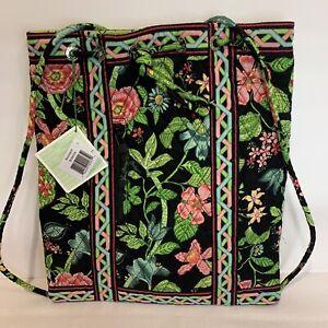 Vera Bradley Botanica Retired Backsack Drawstring Backpack NWT RARE! Exact 1