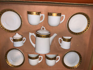 Antique Vintage Childs Porcelain Hot Chocolate Tea Set Made In Germany