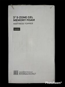 Linenspa Essentials 3 in. Zoned Gel Memory Foam Queen Mattress Topper