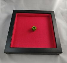 Wooden Dice Tray - Black and Red Square - Padded D&D RPG Gaming Rolling Tray