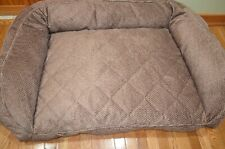 New listing Orvis Microfiber Bolster Dog Bed Comfort Fill Eco 60-90 Lbs. List $229 New