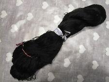Gros écheveau fil de coton perlé noir DMC 12