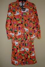 JOE BOXER Girls HALLOWEEN Orange Flannel Coat Pajamas set PJs -Size XS 4/5