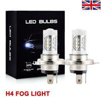 H4 9003 HB2 80W CREE LED DRL 12V Fog Light Bulb Headlight High Low Beam White UK