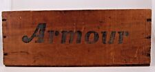 Armour Star Wood Wooden Crate Shipping Box URUGUAY