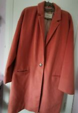 River Island Coral Pink Warm Stunning Duster Pea Coat Size 16 Only Worn Twice