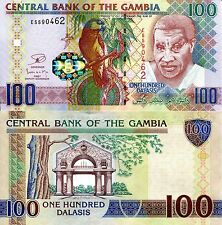 GAMBIA 100 Dalasis Banknote World Paper Money p29b UNC Currency BILL Bird Note