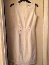 New Calvin Klein Sleeveless Elegant Dress Color Cream Sze 2 MSRP $119