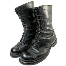 """Corcoran Vintage Military Boots Men's 9.5 Black 10"""" Leather 12 Eye Jump Combat"""