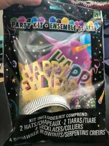 New Year Party Kit For 4 People Celebration Hats Blowouts New!!!