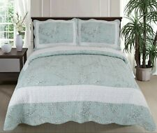 Stella 100% Cotton Coverlet Bedspread Bedcover Comforter Set 2pcs - Single