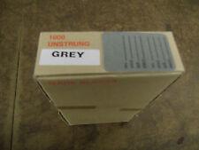 """Bulk-Lot-box of  1,000 unstrung price tags .-hang tags-grey-1 1/4""""X1 7/8"""""""