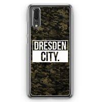 Huawei P20 Hard Cover Hülle Dresden City Camouflage Motiv Design Deutschland Mi