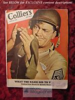 RARE COLLIERS June 19 1943 WWII ROARK BRADFORD QUENTIN REYNOLDS FAITH BALDWIN