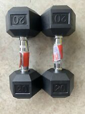 Set Of 2 Brand New FAST SHIPPING - 40 lbs Total 20 Lb Weider Dumbbells