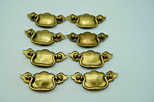 Lot of 8 Brass Chippendale Style Bat Wing Drawer Furniture Pulls