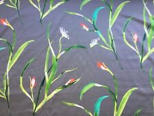 "HARLEQUIN CURTAIN FABRIC ""SAONA"" 1M KIWI / CHARCOAL 100% COTTON"