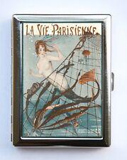 Art Deco Mermaid La Vie Parisienne Flapper Cigarette Case id wallet #8