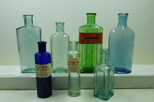 More details for group of 7 very old bottles some with genuine old labels ideal gift / display