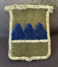 Vintage Military Patch Army 80th Infantry Division Light Blue Ridge Variant