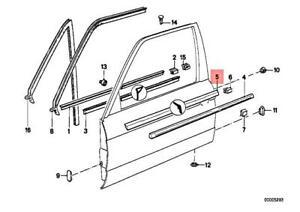 Genuine BMW M3 E30 316 316i 318i Door Weather Strip Outer Left 51211913055