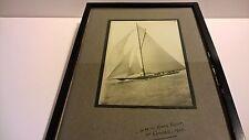 Historic photo 1925 H.M. George V Kings royal yacht Britannia at Cowes nautical