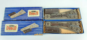 HORNBY DUBLO 3-RAIL ELECTRIC POINTS X 2 BOTH WORK GOOD COND BOXED OO SCALE(UJ)