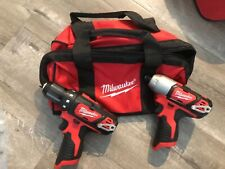 """Milwaukee M12 Fuel Cordless Drill/driver & 1/4"""" hex impact driver. Never used."""