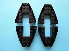 Lego 4 x Keilstein  Boot Basis Bugstein 2626 schwarz 6x6x1  6057 5956 6483
