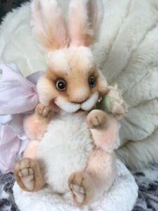 Gorgeous OOAK Blossom Easter Bunny - Viktoria Makarova
