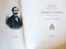 Onoranze rese alla memoria del Comm. Avvocato E. Sassoli. Regia Tipografia 1881