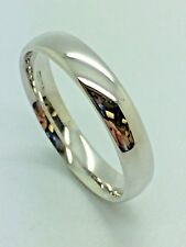 9ct White Solid Gold Wedding Band - 5.0mm