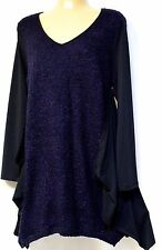 plus sz XXS / 12 TS TAKING SHAPE Boucle Jumper soft draping aubergine winter NWT