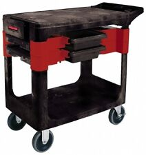 Rubbermaid 350 Lb. Capacity, Mobile Trade Cart 19 Inch Wide x 38 Inch Deep x ...