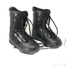 Snowjam Spice Lynx Snowboard Boots, Women's Girls Size 10 Black White Lace up