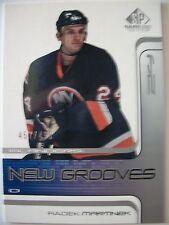2002 SP HOCKEY GAME USED NEW GROOVES ROOKIES , RADEK MARTINEK !! BOX 15