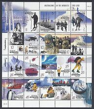 2001 AAT AUSTRALIANS IN THE ANTARCTIC SHEETLET FINE MINT MNH/MUH
