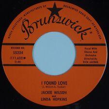 JACKIE WILSON & LINDA HOPKINS: I Found Love VG++ Brunswick R&B SOUL Hear