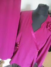 LADIES PURPLE SKIRT SUIT, BACALE, SIZE 16, BUTTON UP TOP AND SKIRT, GD-CON