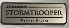 Stormtrooper helmet reveal plaque