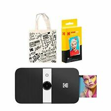 KODAK Smile Instant Print Digital Camera (Black/White) Tote Bag Kit