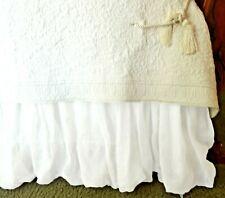 SOFT SURROUNDINGS LINEN BALLOON BEDSKIRT WHITE QUEEN