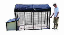 K9 Condo Cabin Dog House + Kennel-Run + Raised Flooring Combination package