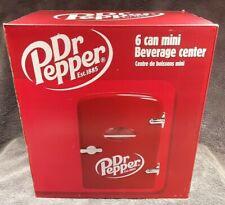 Dr. Pepper 6 Can Mini Refrigerator Fridge Beverage Center Car Adapter Self Lock