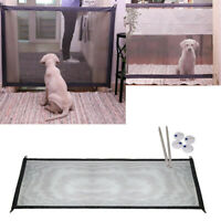 The Magic Gate Portable Folding Safety Guard For Pets Dog Cat Isolated Gauze.