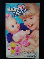 RARE! HTF Vintage Kenner Choosy Baby All Gone Baby Did It Doll Original BOX EUC!