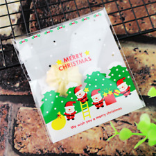 20 Piezas Galletas dulces Galletas Adhesivo de Navidad de plástico bolsas de regalo 10 cm B037