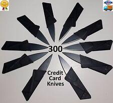 300 Credit Card Knives Lot folding wallet thin pocket Survival sharp micro knife